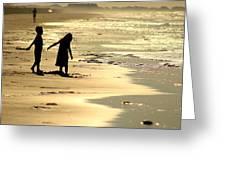 Seaside Siblings Greeting Card