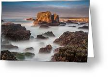 Seastacks In The Mists Greeting Card