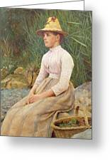 Seated Lady Greeting Card