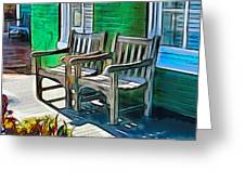 Seating For Two Greeting Card