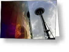 Seattle Emp Building 12 Greeting Card