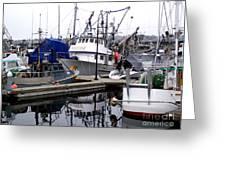 Seattle Fishermans Terminal Greeting Card