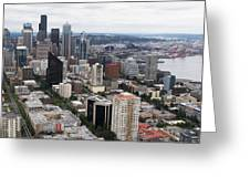Seattle From The Needle Greeting Card