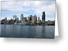 Seattle From The Water Greeting Card
