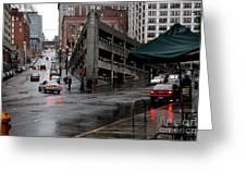 Seattle Parking Garage Orig Greeting Card