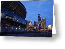 Seattle Sky At Dusk Greeting Card