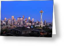 Seattle Skyline 3 Greeting Card
