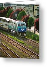 Seattle Sounder Train Greeting Card