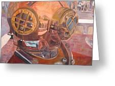Seaworld Copper Diving Helmet Greeting Card