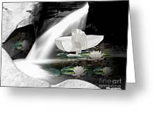 Secret Cave  Waterfall Greeting Card