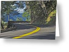 Section Of Columbia River Gorge Greeting Card