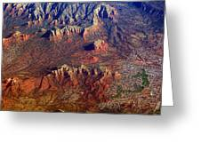 Sedona Arizona Planet Earth Greeting Card