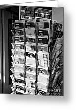 selection of scottish and irish clan history books in a shop in Scotland UK Greeting Card