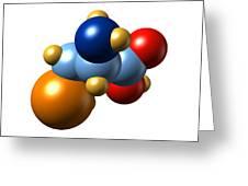 Selenocysteine, Molecular Model Greeting Card