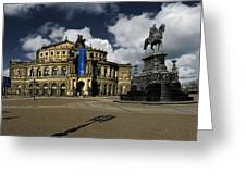 Semper Opera House Dresden - A Beautiful Sight Greeting Card by Christine Till