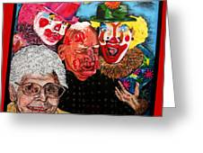 Send In The Clowns Greeting Card