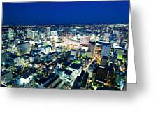 Sendai Train Station By Night Greeting Card