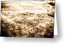 Sepia Clouds  Greeting Card