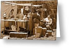 Sepia Historical Reenactment Greeting Card