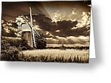 Sepia Sky Windmill Greeting Card