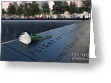 September 11 Memorial Flower Greeting Card