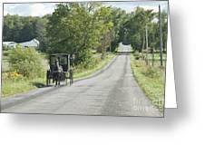 September Roads Greeting Card