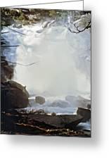 Sequoia Nat Pk Waterfalls Greeting Card