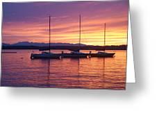 Serene Sunset Greeting Card