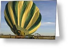 Serengeti Hot Air Baloon Inflating Greeting Card