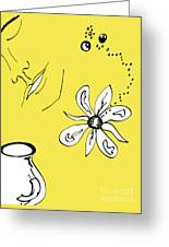 Serenity In Yellow Greeting Card