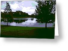 Serenity Lake 4 Greeting Card