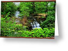 Serenity With Frame Greeting Card