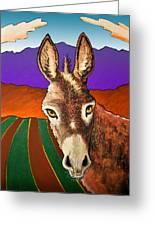 Serious Donkey Greeting Card