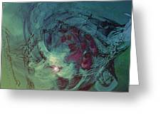 Serpent Head Greeting Card by Linda Sannuti