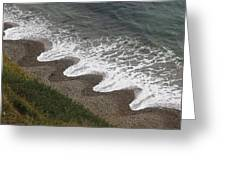 Serrated Waves Greeting Card