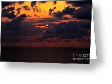 Setting Sun At South Beach Greeting Card
