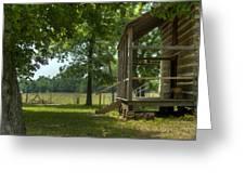 Settlers Cabin Arkansas 1 Greeting Card by Douglas Barnett