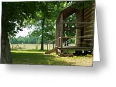 Settlers Cabin Arkansas 4 Greeting Card