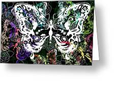 Seven Butterflies Greeting Card