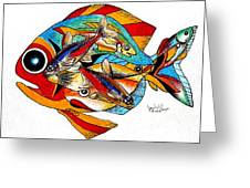 Seven Fish Greeting Card