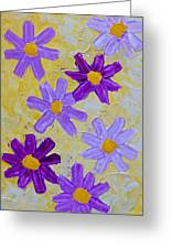 Seven Flowers Greeting Card