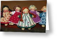 Seven Handmade Dolls Greeting Card
