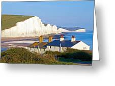 Seven Sisters Cottage View Greeting Card