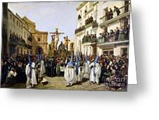 Seville: Good Friday, 1862 Greeting Card