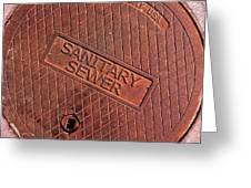 Sewer Cover Greeting Card