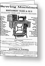 Sewing Machine Ad, 1895 Greeting Card
