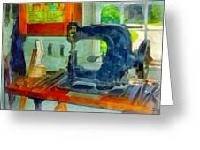 Sewing Machine In Harness Room Greeting Card