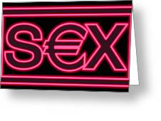 Sex Industry, Conceptual Image Greeting Card