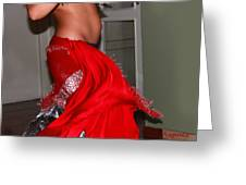 Sexy Belly Dancer Greeting Card