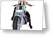Sexy  Biker Greeting Card